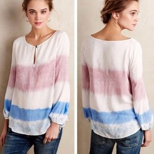 Anthropologie Holding Horses Tie Dye Tunic Top L